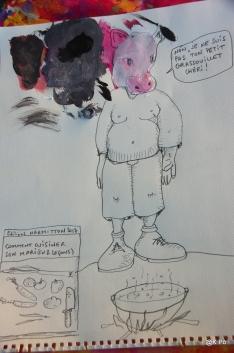 sur les rustines de Chinette, un dessin de Chinou