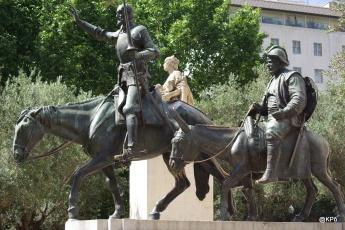 Don Quichotte et Sancho Pança + ?